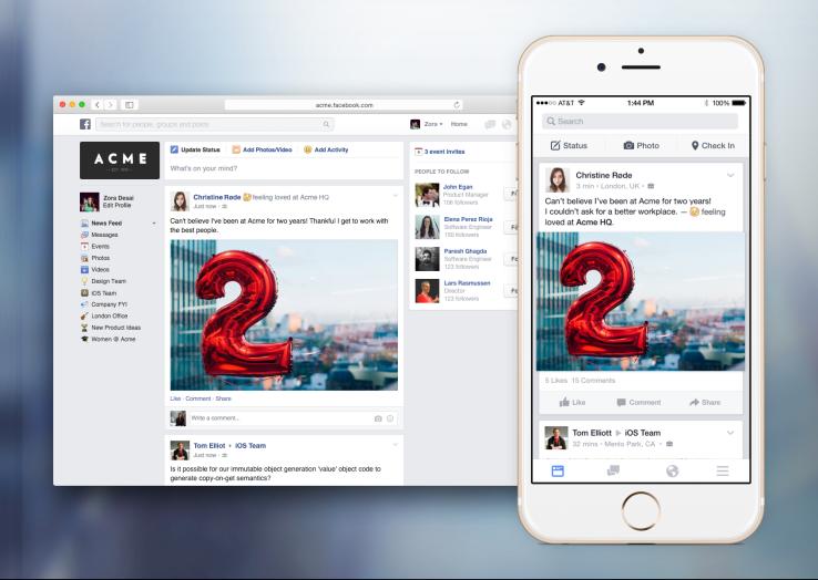 פייסבוק בעבודה 2015 Facebook at work