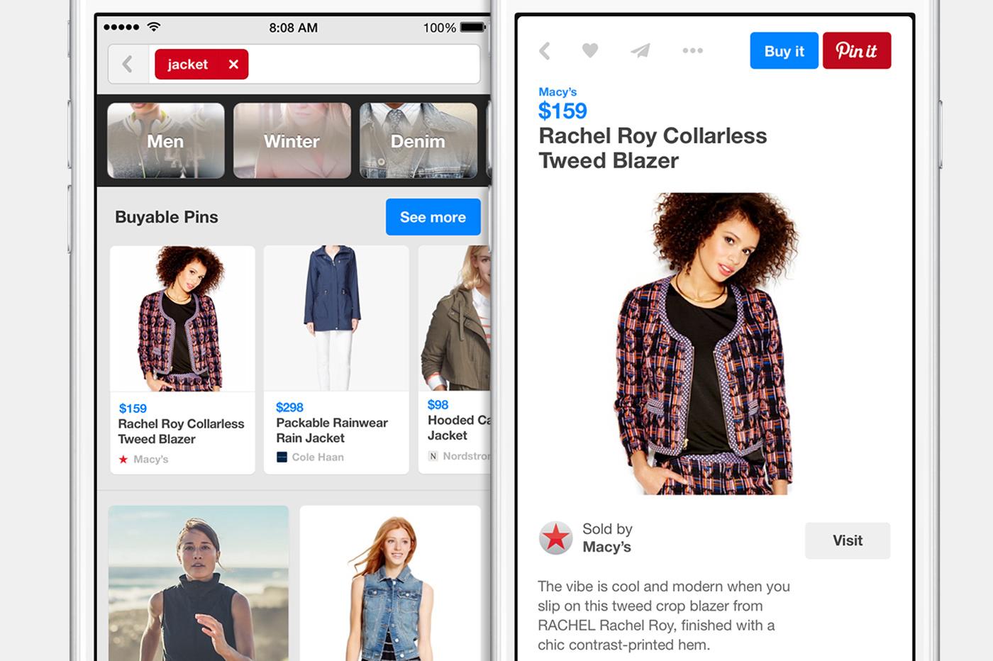רכישת מוצרים בפינטרסט – Shopping On Pinterest With Buyable Pins